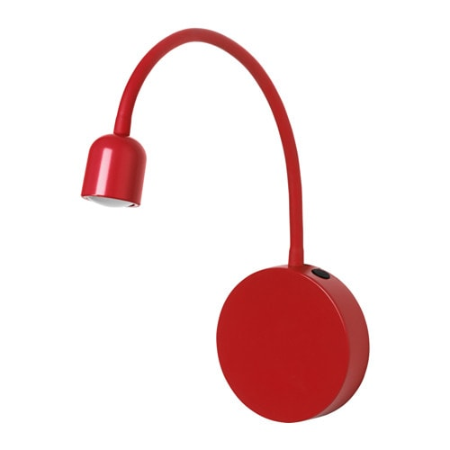bl vik led wall lamp battery operated red ikea. Black Bedroom Furniture Sets. Home Design Ideas