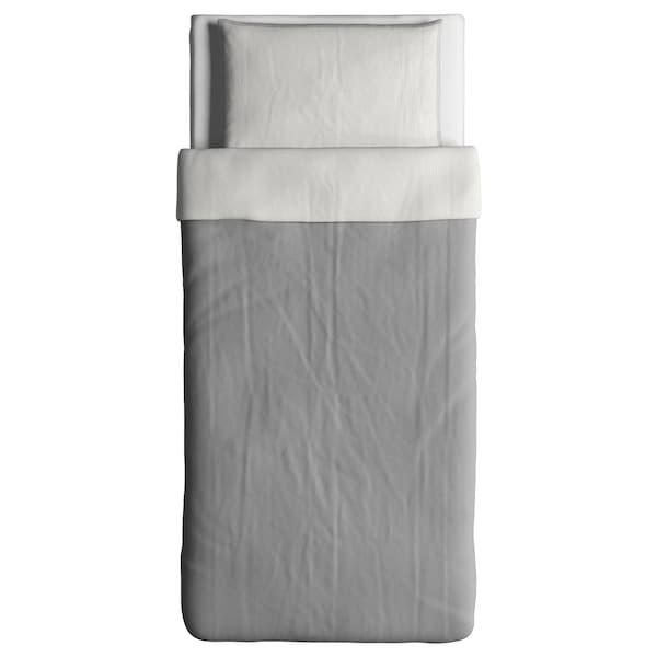 BLÅVINDA Duvet cover and pillowcase, grey, 150x200/50x80 cm