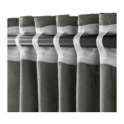 blekviva curtains with tie backs 1 pair grey 145x250 cm ikea. Black Bedroom Furniture Sets. Home Design Ideas