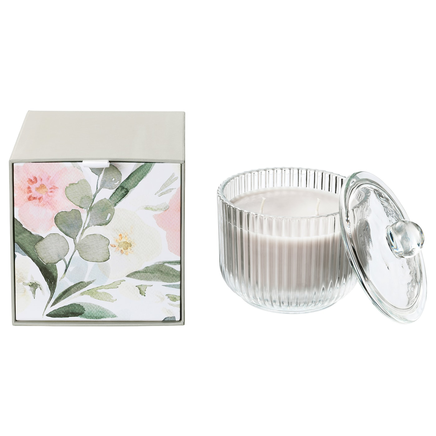 IKEA BLOMDOFT scented candle in glass, 2 wicks