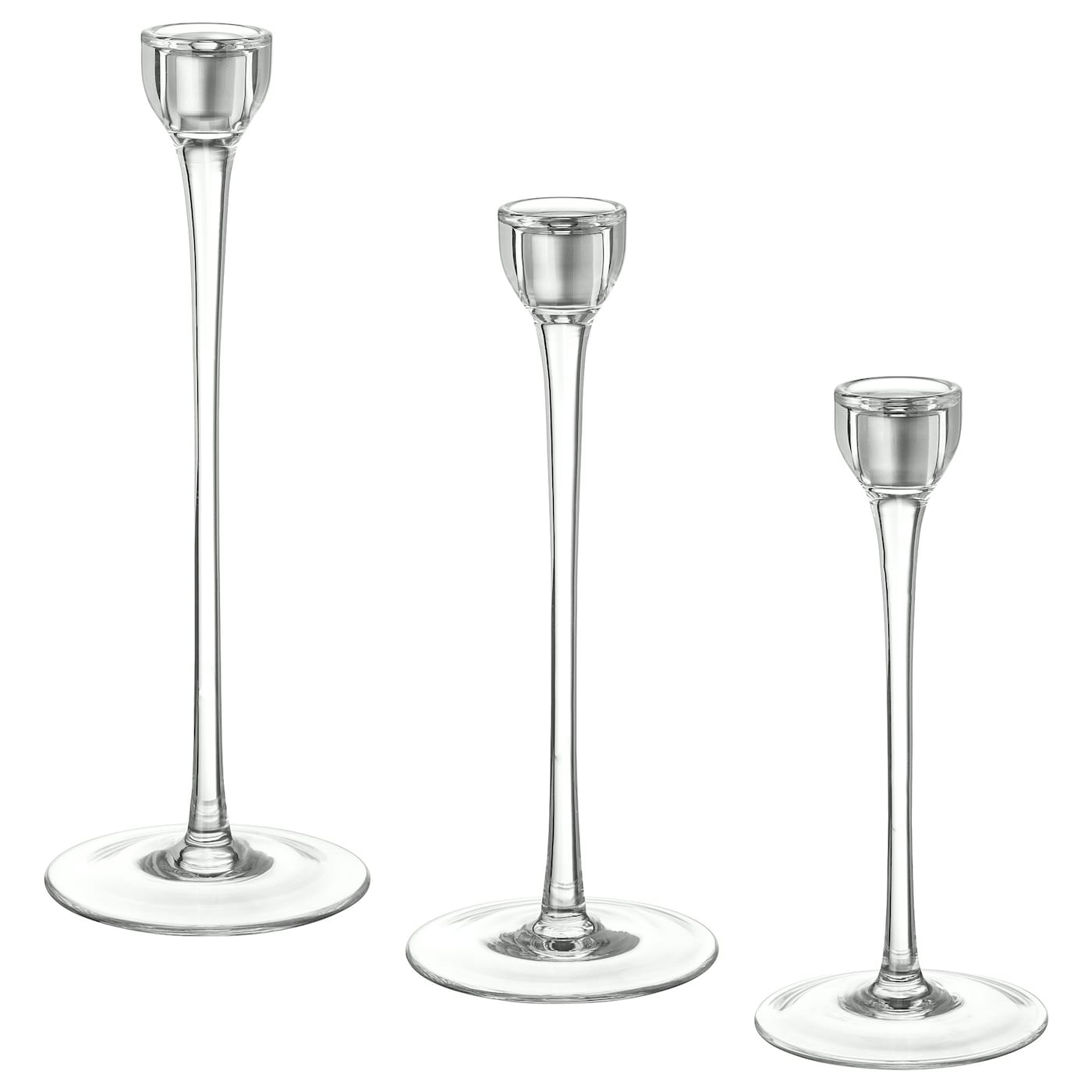 IKEA BLOMSTER candlestick, set of 3