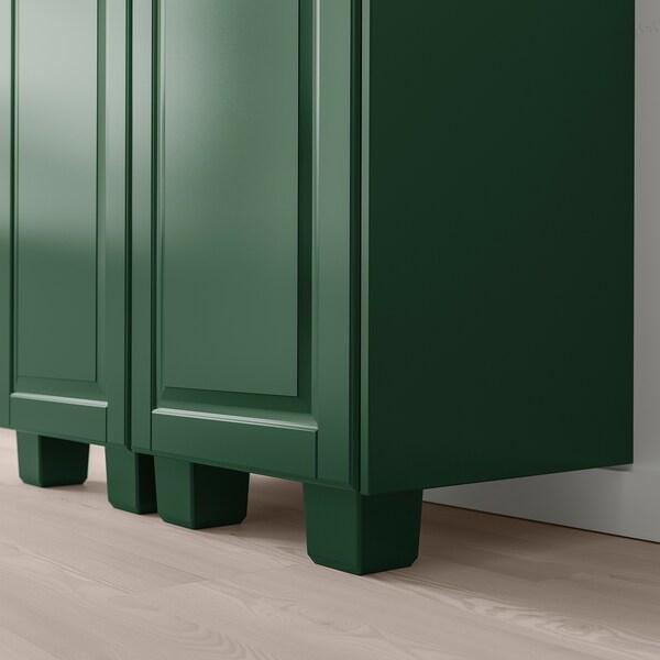 BODBYN Leg, dark green, 8 cm