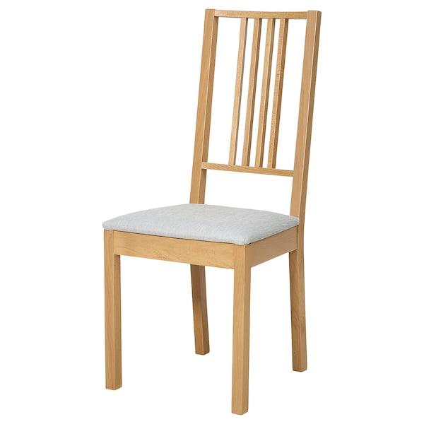 BÖRJE Chair, oak/Ramna light grey