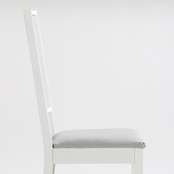 BÖRJE Chair, white/Ramna light grey
