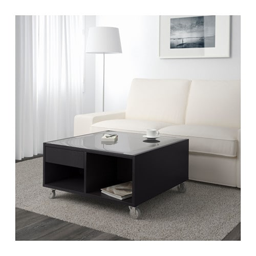 IKEA BOKSEL coffee table Veneered surface; gives the table a natural look and feel.