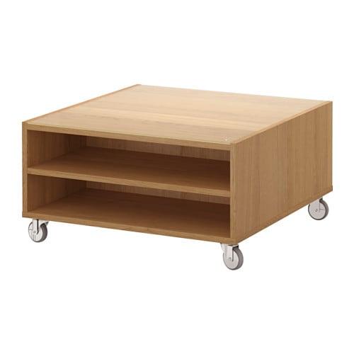 Boksel coffee table oak veneer 79x79 cm ikea - Ikea table basse relevable ...