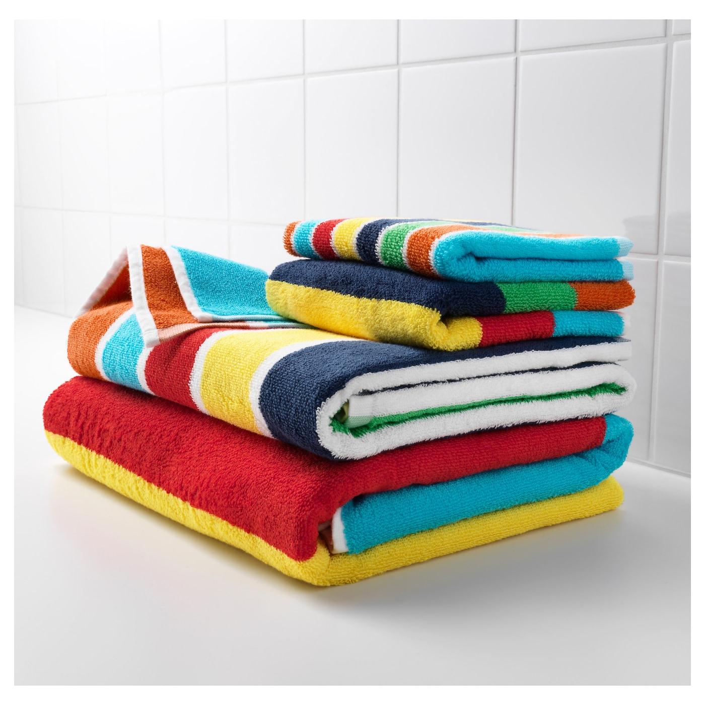 bokvik bath towel multicolour 70x140 cm ikea. Black Bedroom Furniture Sets. Home Design Ideas