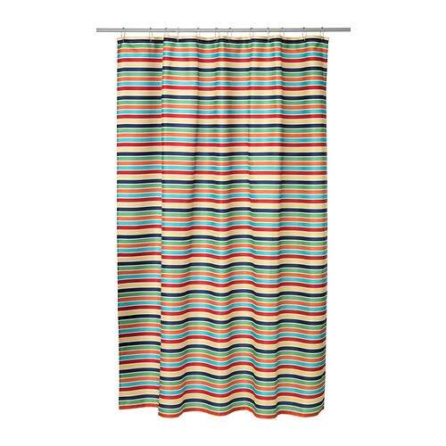 IKEA BOKVIK shower curtain Densely-woven polyester fabric with water-repellent coating.
