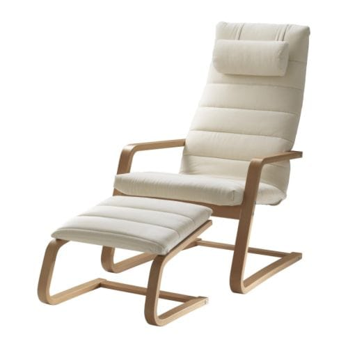 BOLIDEN Armchair and footstool IKEA Adjustable and removable headrests for individual seating comfort.  High back provides great support for your neck.