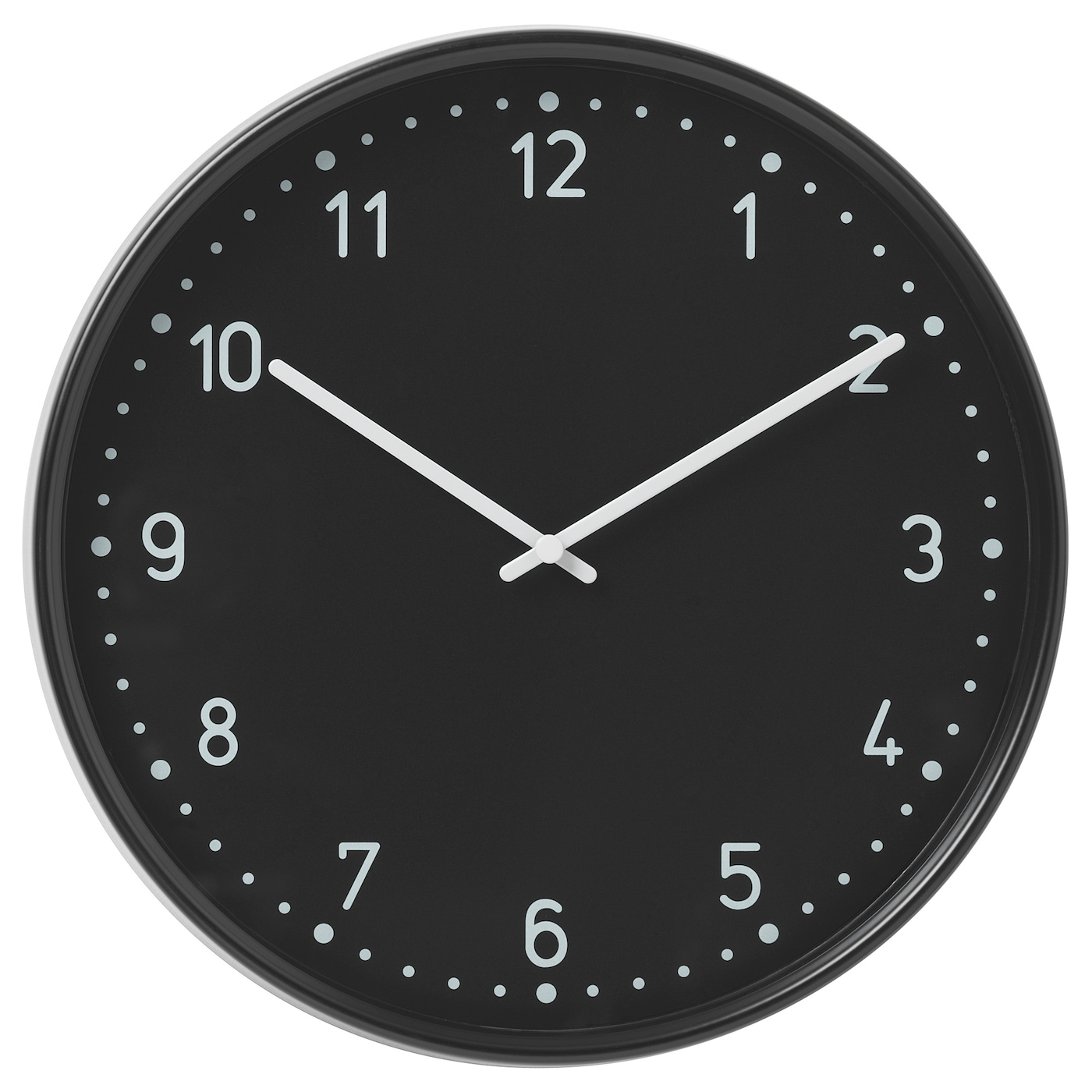 IKEA BONDIS wall clock Highly accurate at keeping time as it is fitted with a quartz movement.
