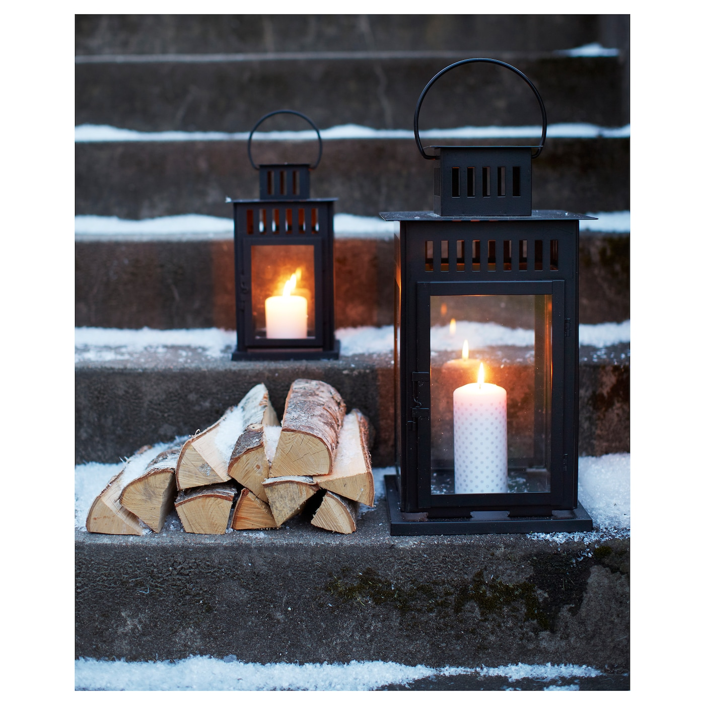 Captivating IKEA BORRBY Lantern For Block Candle Suitable For Both Indoor And Outdoor  Use.