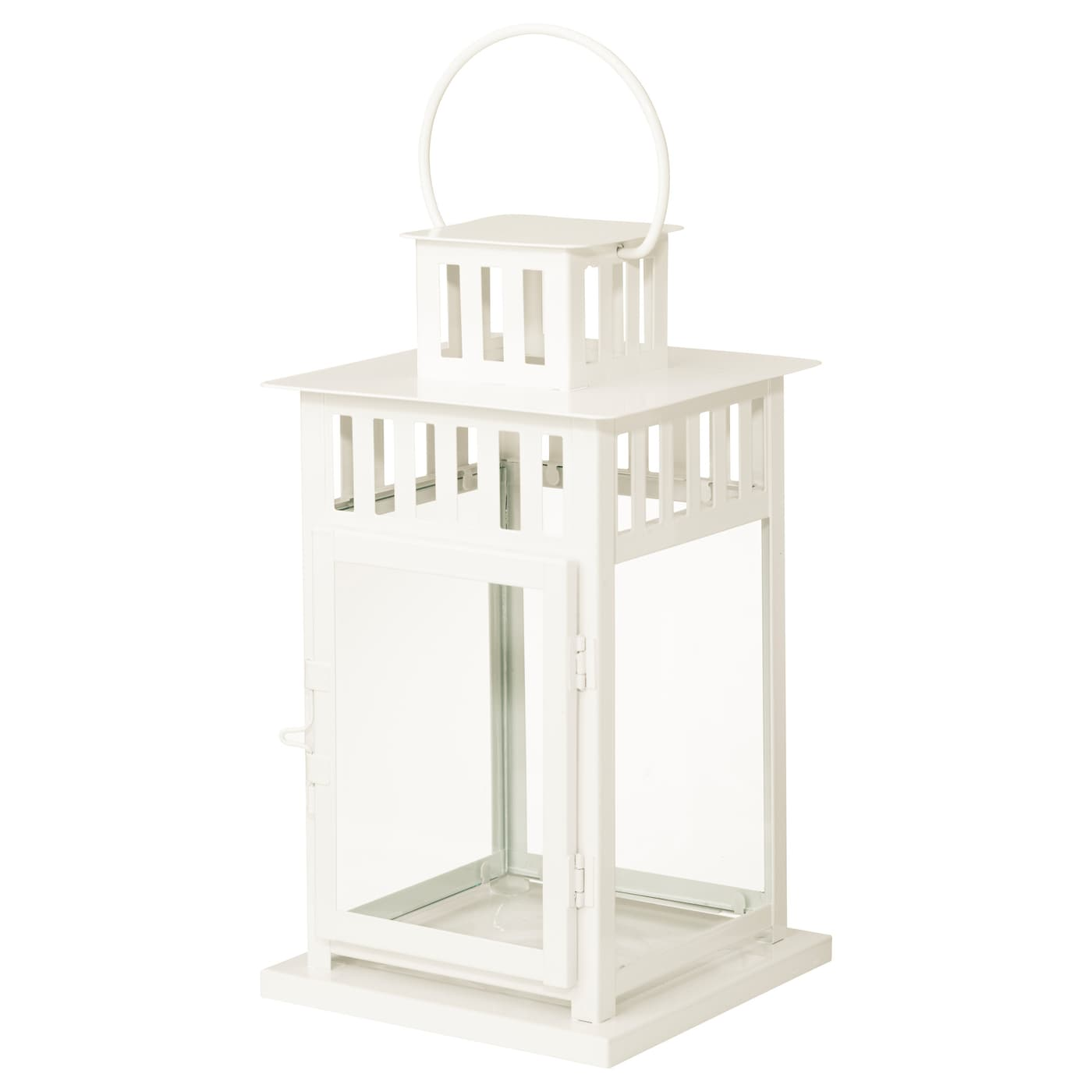 Borrby lantern for block candle in outdoor white 28 cm ikea - Lanterne portacandele ikea ...
