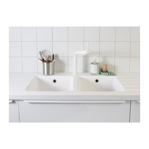 White Kitchen Mixer Tap bosjÖn kitchen mixer tap white - ikea