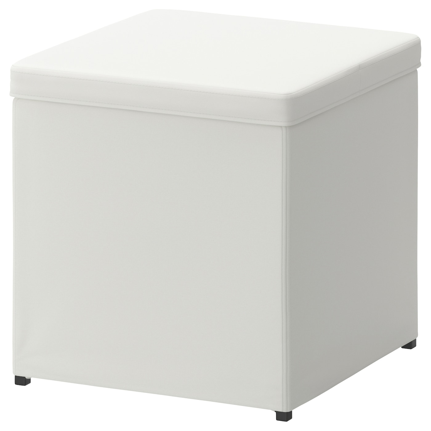 Bosn 196 S Footstool With Storage Ransta White Ikea