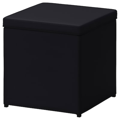 BOSNÄS Footstool with storage, Ransta black