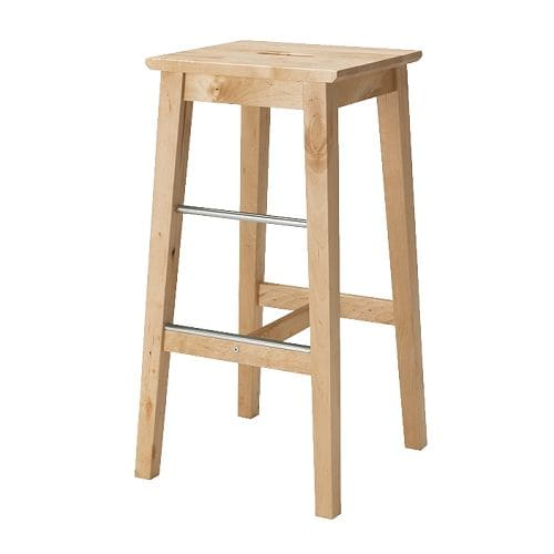 IKEA BOSSE bar stool Easy to move thanks to the hole in the seat.