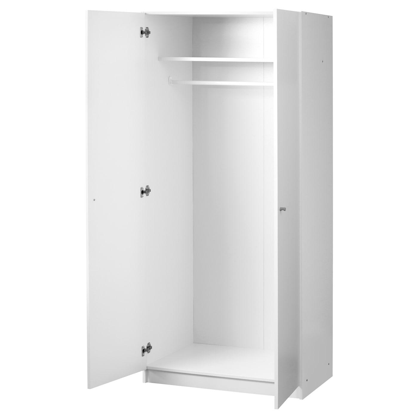 Bostrak Wardrobe White 80 X 50 X 180 Cm Ikea