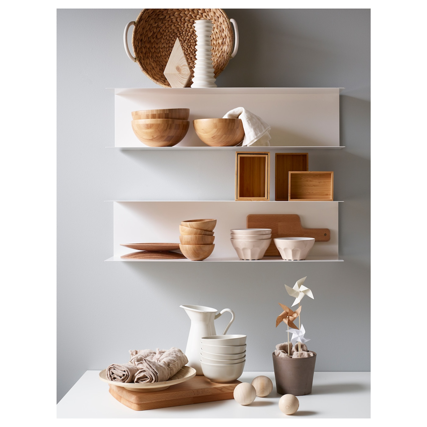 BOTKYRKA Wall Shelf White 80 X 20 Cm