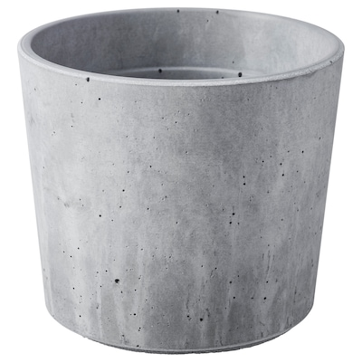 BOYSENBÄR Plant pot, in/outdoor light grey, 9 cm