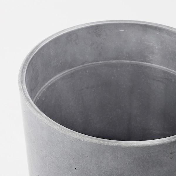 BOYSENBÄR Plant pot, in/outdoor light grey, 15 cm