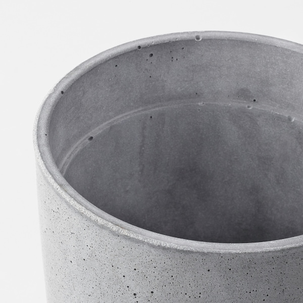 BOYSENBÄR Plant pot, in/outdoor light grey, 12 cm