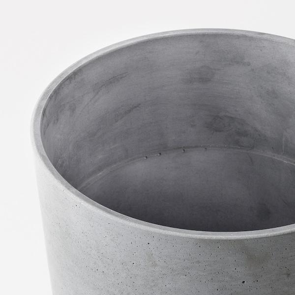 BOYSENBÄR Plant pot, in/outdoor light grey, 24 cm