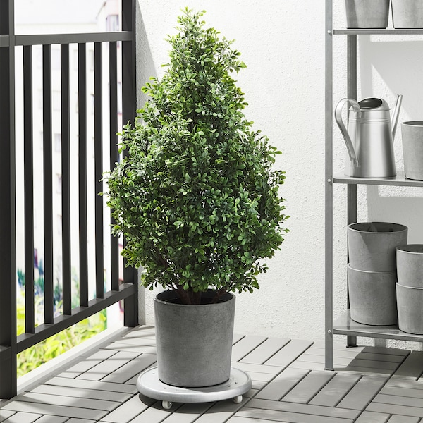 BOYSENBÄR Plant pot, in/outdoor light grey, 19 cm