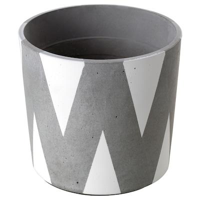 BOYSENBÄR plant pot in/outdoor triangle/white 13 cm 14 cm 12 cm 13 cm