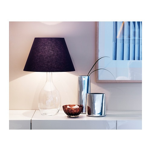 br n table lamp base clear glass 40 cm ikea. Black Bedroom Furniture Sets. Home Design Ideas