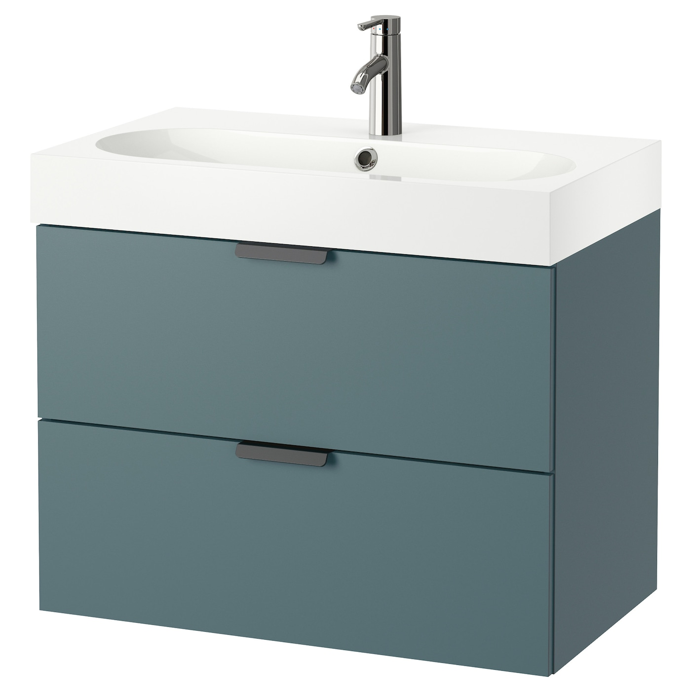 br viken godmorgon wash stand with 2 drawers grey turquoise 80 x 48 x 68 cm ikea. Black Bedroom Furniture Sets. Home Design Ideas
