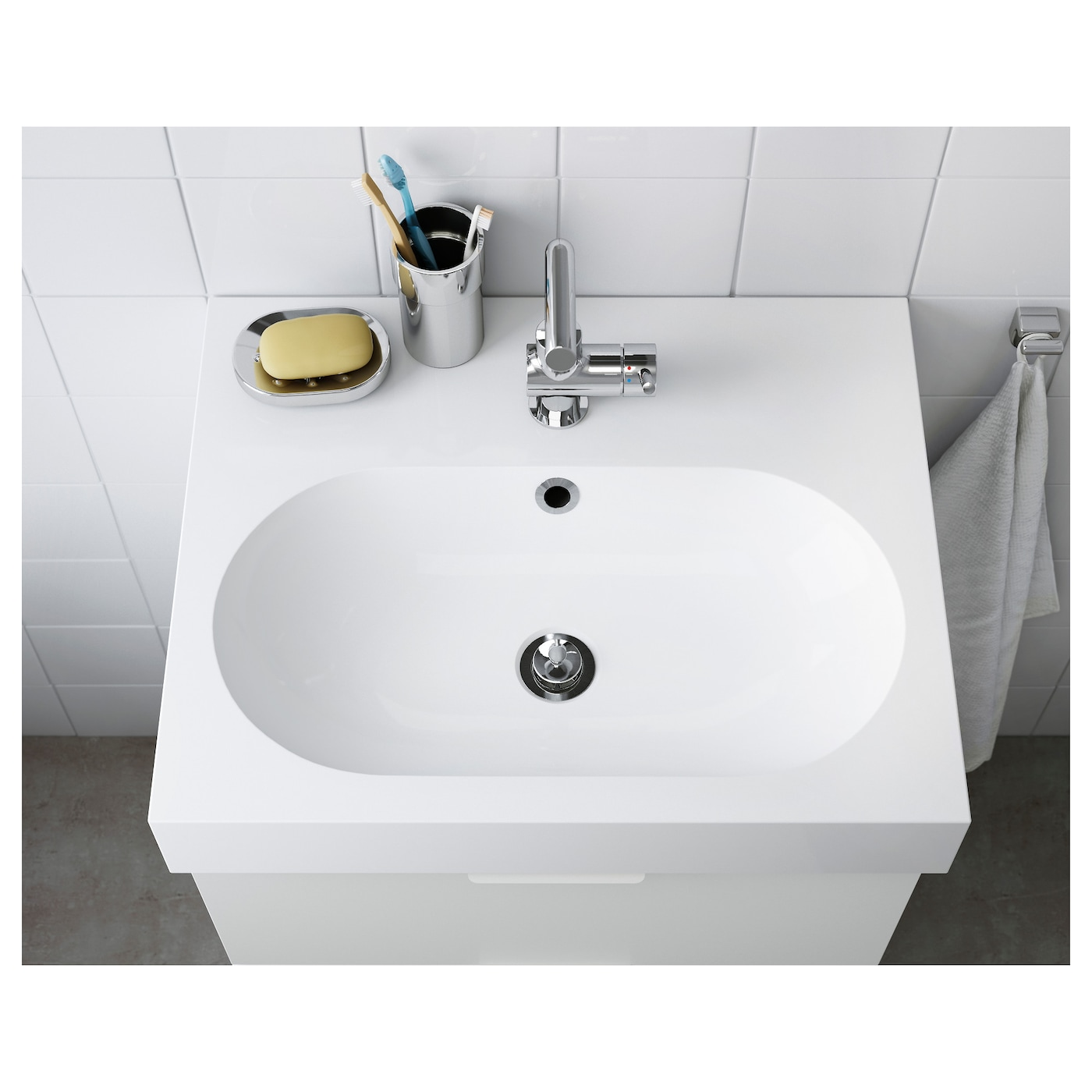 IKEA BRÅVIKEN single wash-basin 10 year guarantee. Read about the terms in the guarantee brochure.