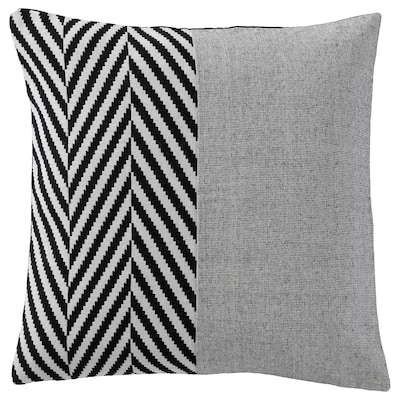 BRANDSPIRA Cushion cover, black/grey, 50x50 cm