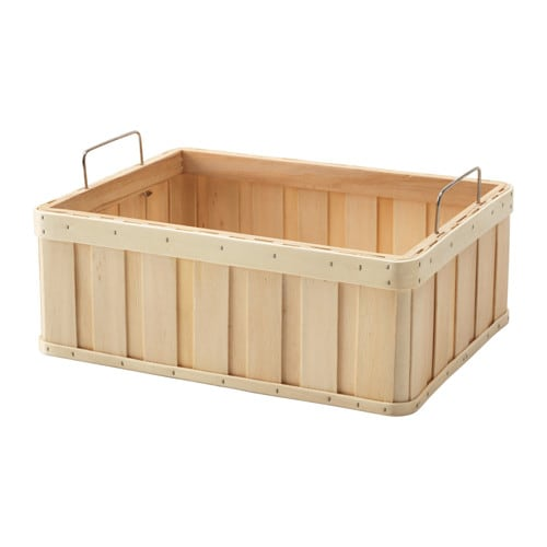 IKEA BRANKIS basket Easy to pull out and lift as the basket has handles.