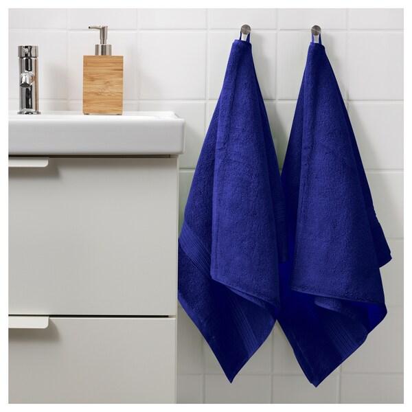 BREDASUND Bath towel, dark blue, 70x140 cm