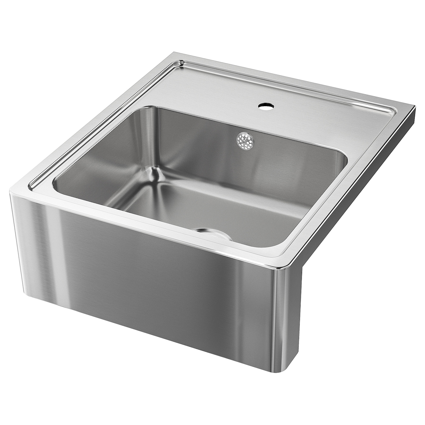 IKEA BREDSJÖN sink bowl w visible front Has a pre-drilled hole for a kitchen mixer tap.