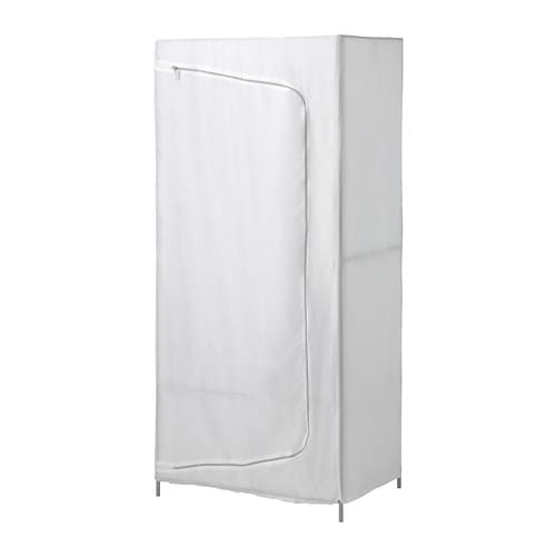 IKEA BREIM wardrobe Easy to keep clean since you can remove the fabric and wash it by machine.