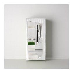 Breim wardrobe white 80x55x180 cm ikea - Penderie roulette ikea ...