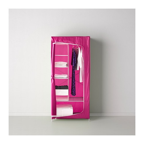 Budget flatpack wardrobe - canvas with frame