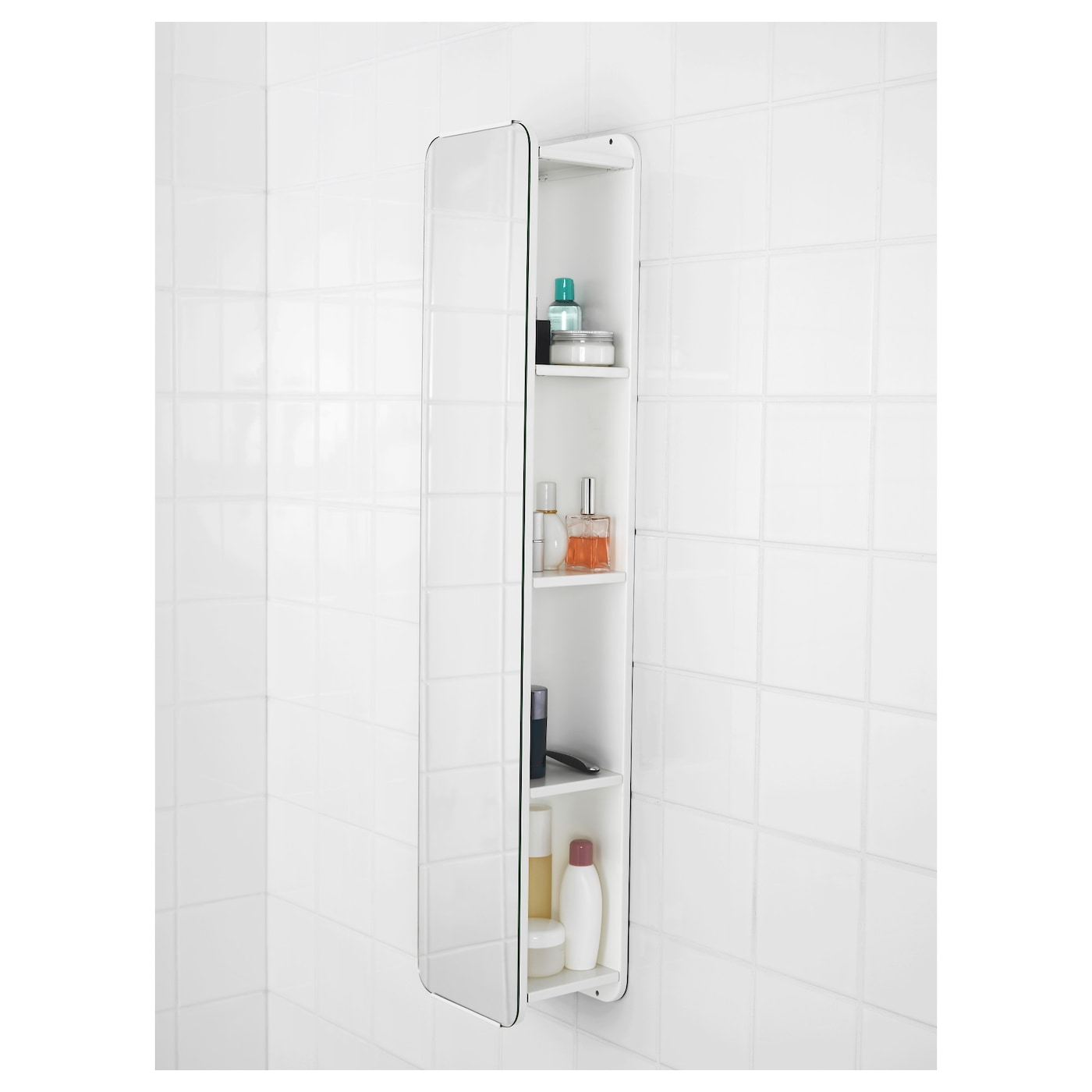 ikea bathroom mirror with shelf brickan mirror with storage unit white 20x100 cm ikea 23511