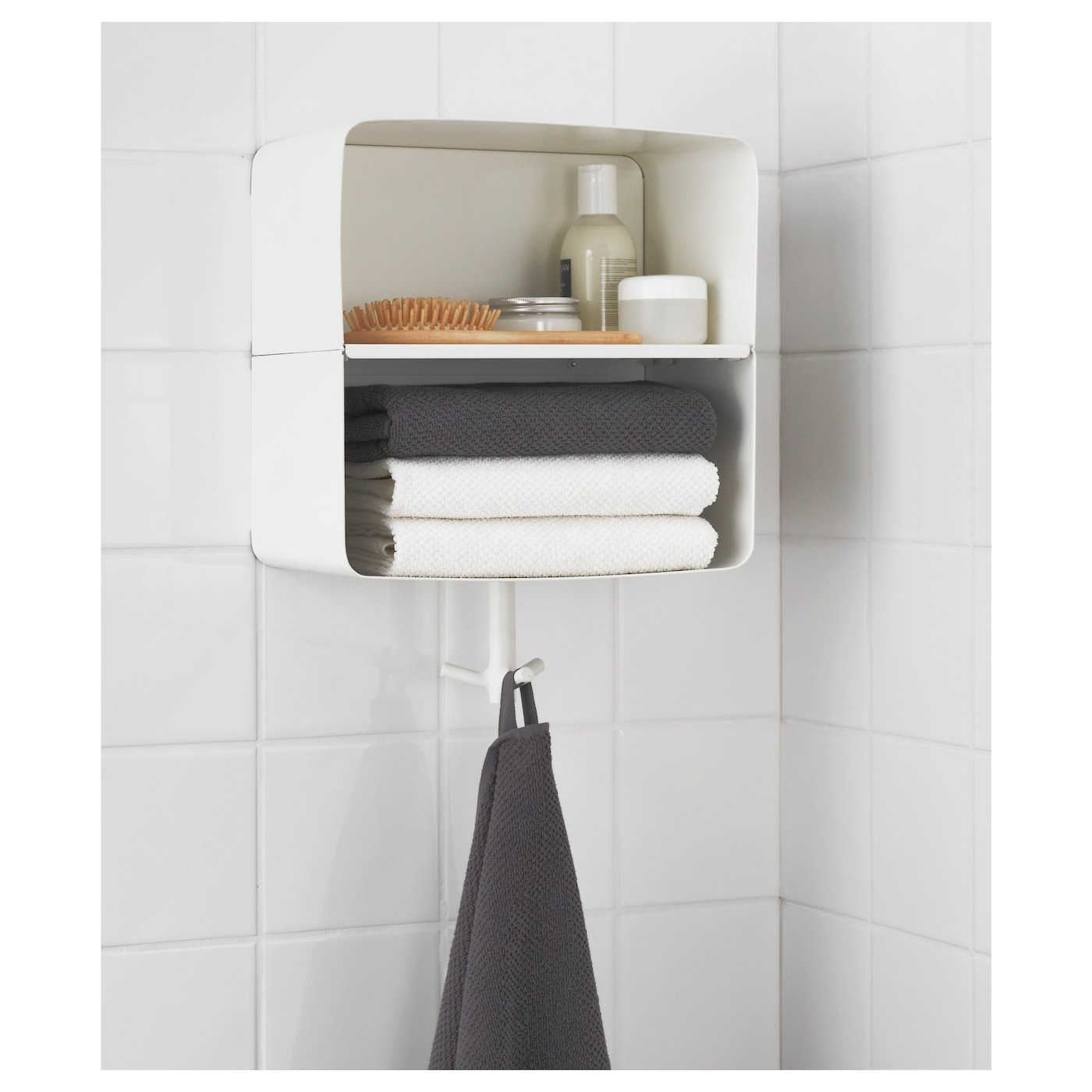 brickan wall shelf white 33x33 cm - ikea