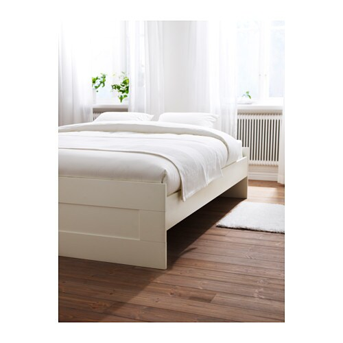 Ikea Brimnes Bed Frame Adjule Sides Allow You To Use Mattresses Of Diffe Thicknesses