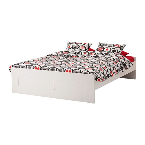 BRIMNES Bed frame Whitelury Standard Double IKEA
