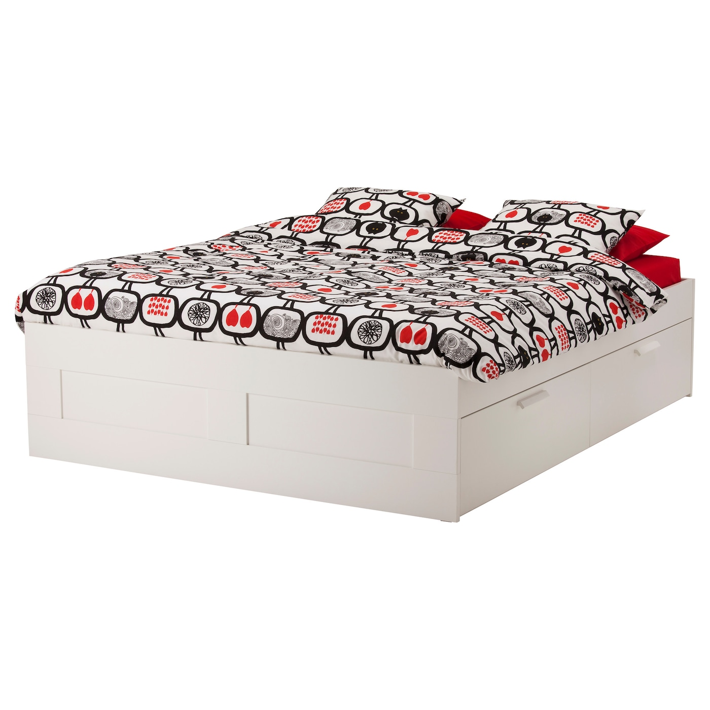 Brimnes bed frame with storage white lur y standard king - Tete de lit avec rangement ikea ...