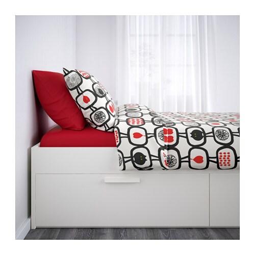 brimnes bed frame with storage white lur y 160x200 cm ikea. Black Bedroom Furniture Sets. Home Design Ideas