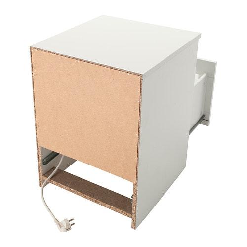 BRIMNES Bedside table White 39×41 cm IKEA