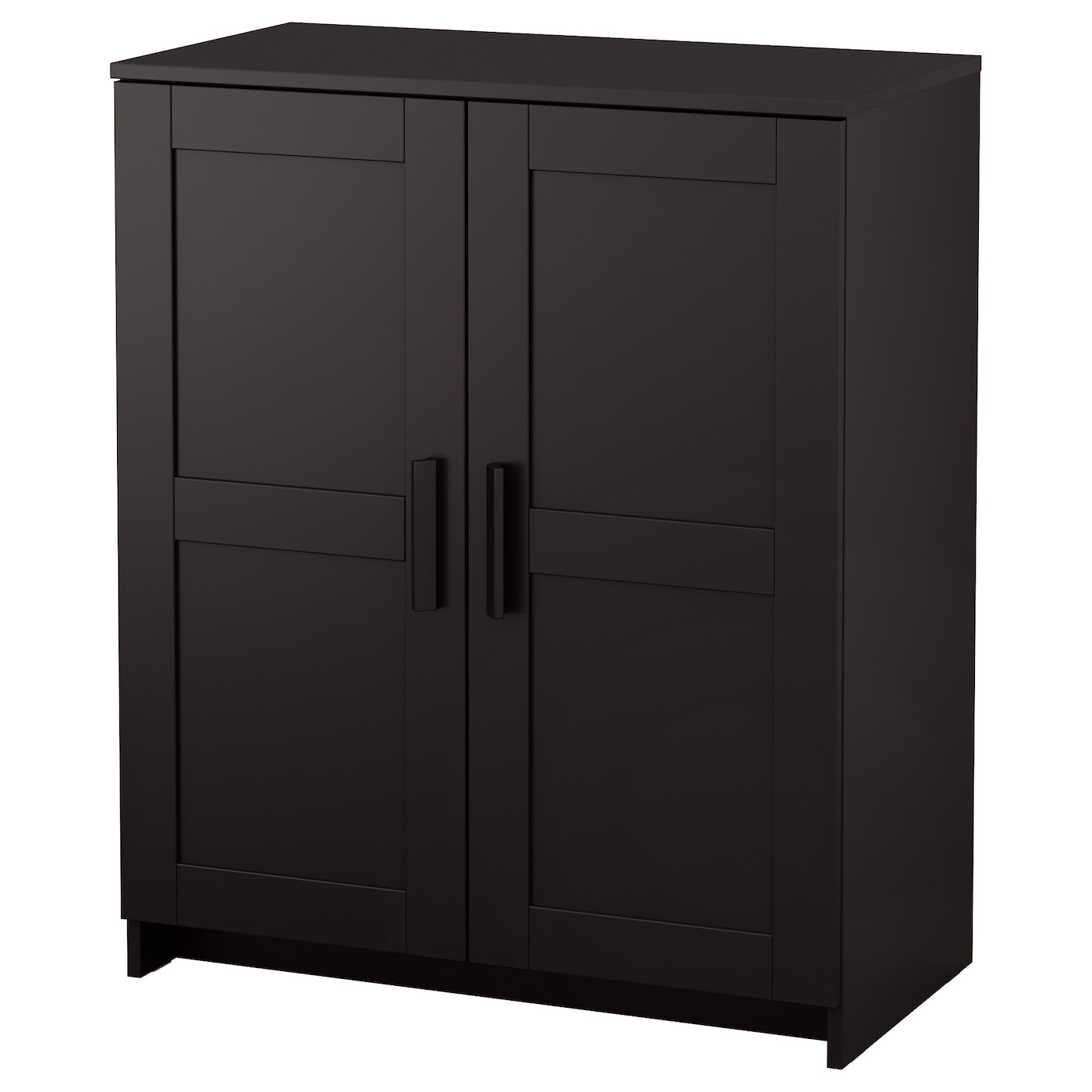 Brimnes cabinet with doors black 78x95 cm ikea for Sideboard niedrig