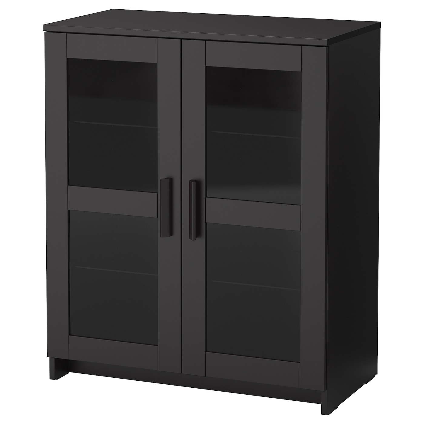 brimnes cabinet with doors glass black 78 x 95 cm ikea. Black Bedroom Furniture Sets. Home Design Ideas