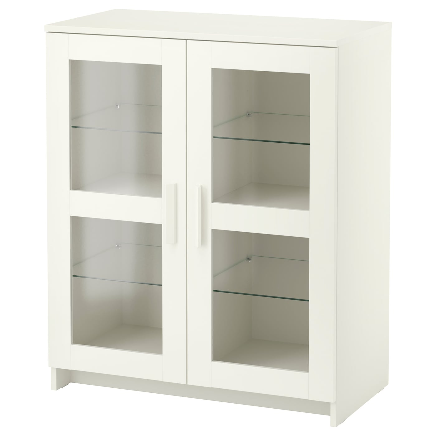 Brimnes cabinet with doors glass white 78x95 cm ikea - Ikea armoire 3 portes ...