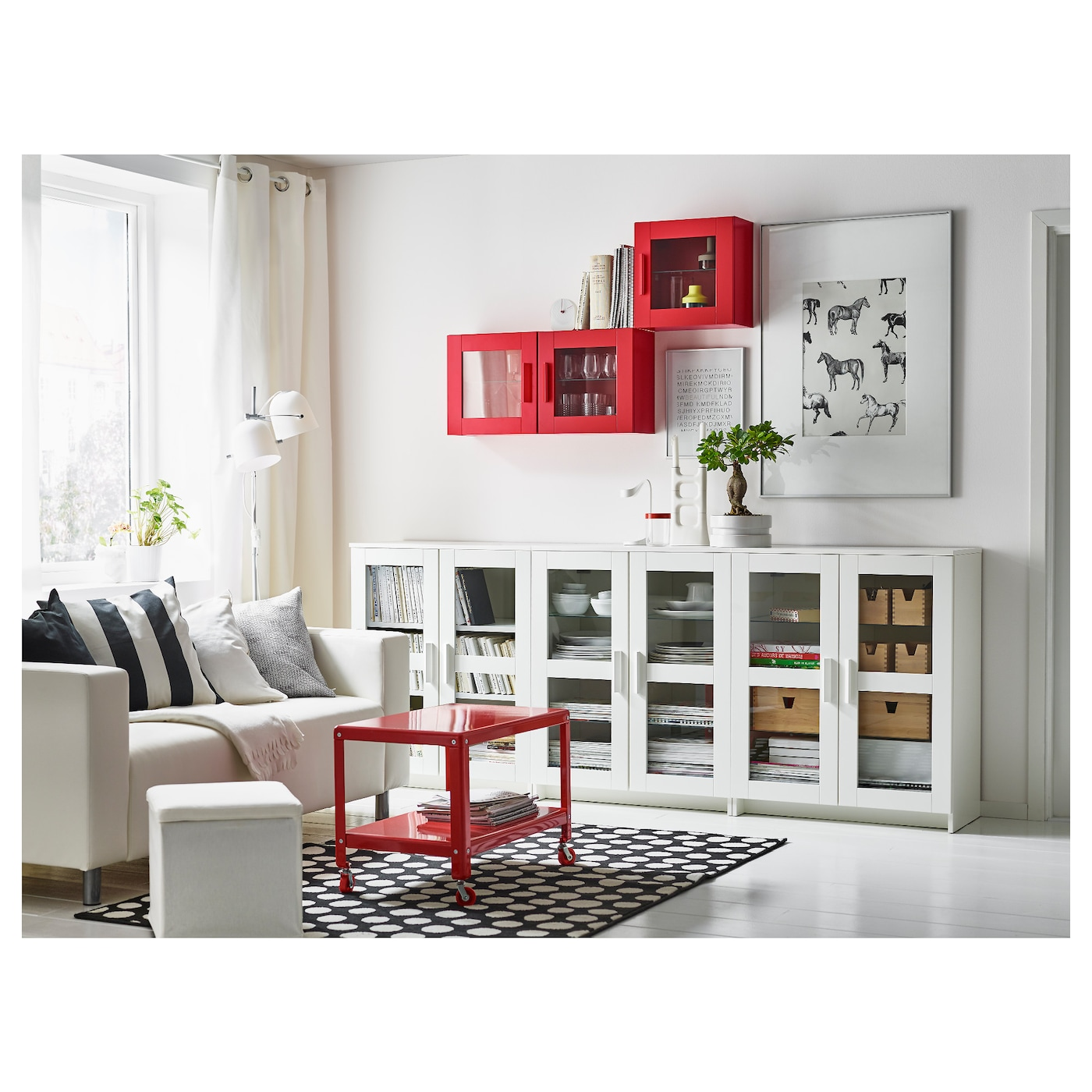 brimnes cabinet with doors glass white 78x95 cm ikea. Black Bedroom Furniture Sets. Home Design Ideas