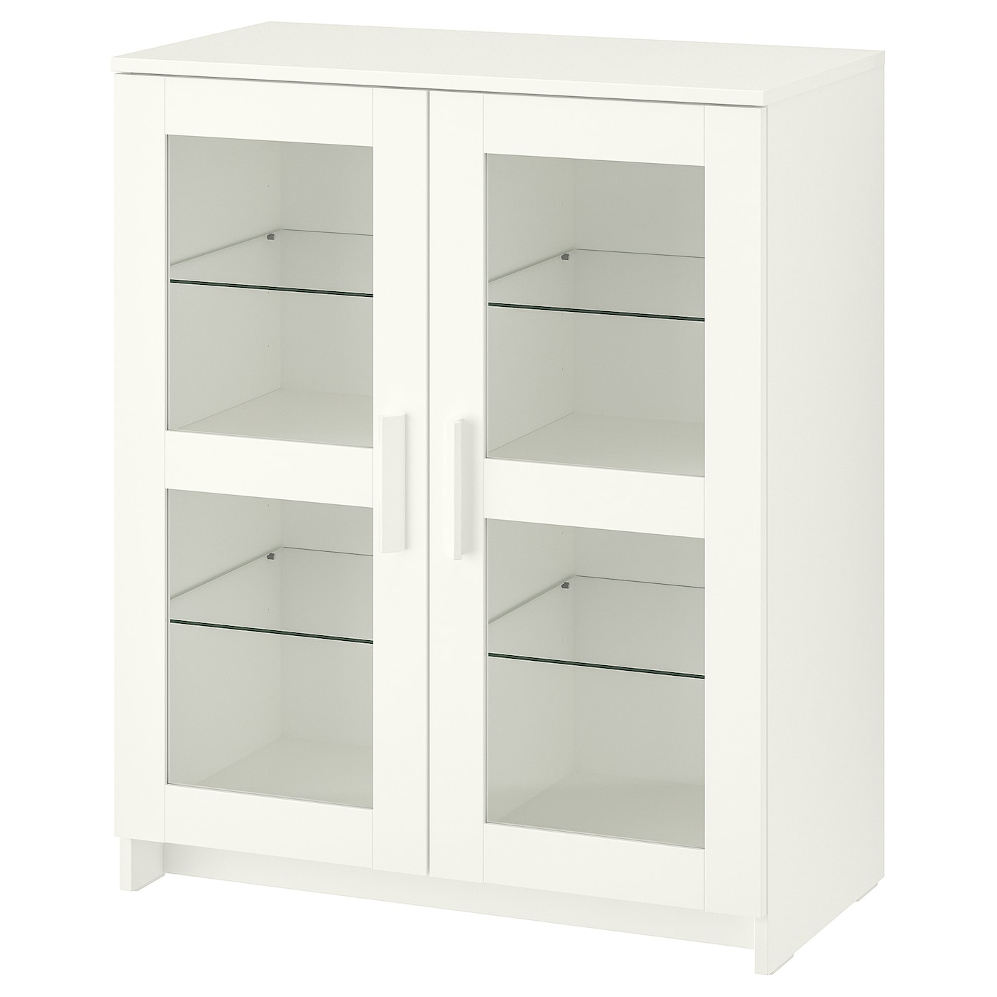 Cabinet With Doors Brimnes Glass White